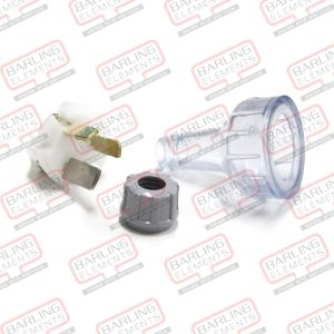 3 Pin Plug 15amp Clear -- T3-8
