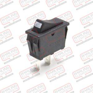 Switch - Rocker, Black (30mm x 11mm)