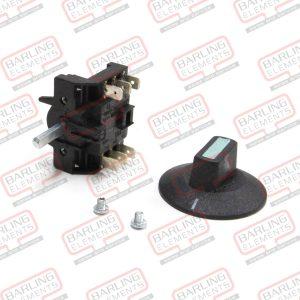 Rotary Switch & Plain Knob - 3 Pos, 3 pole Ni/Ag 16A (T150)