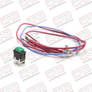 Switch - Green Push Button, 2 Pole - Conversion Kit