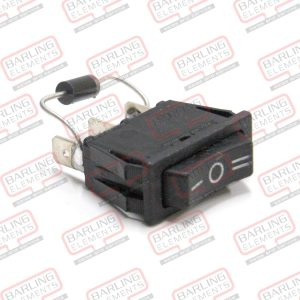 Centre Off Rocker Switch & Diode Assembly