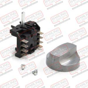 Rotary Switch & Aluminium Knob - 4Pole 3 Position
