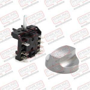 Rotary Switch & Aluminium Knob - 4 position